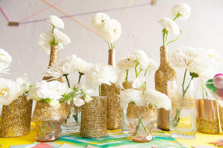 Diy Gold Glitter Vases Vase And Cellar Image Avorcor