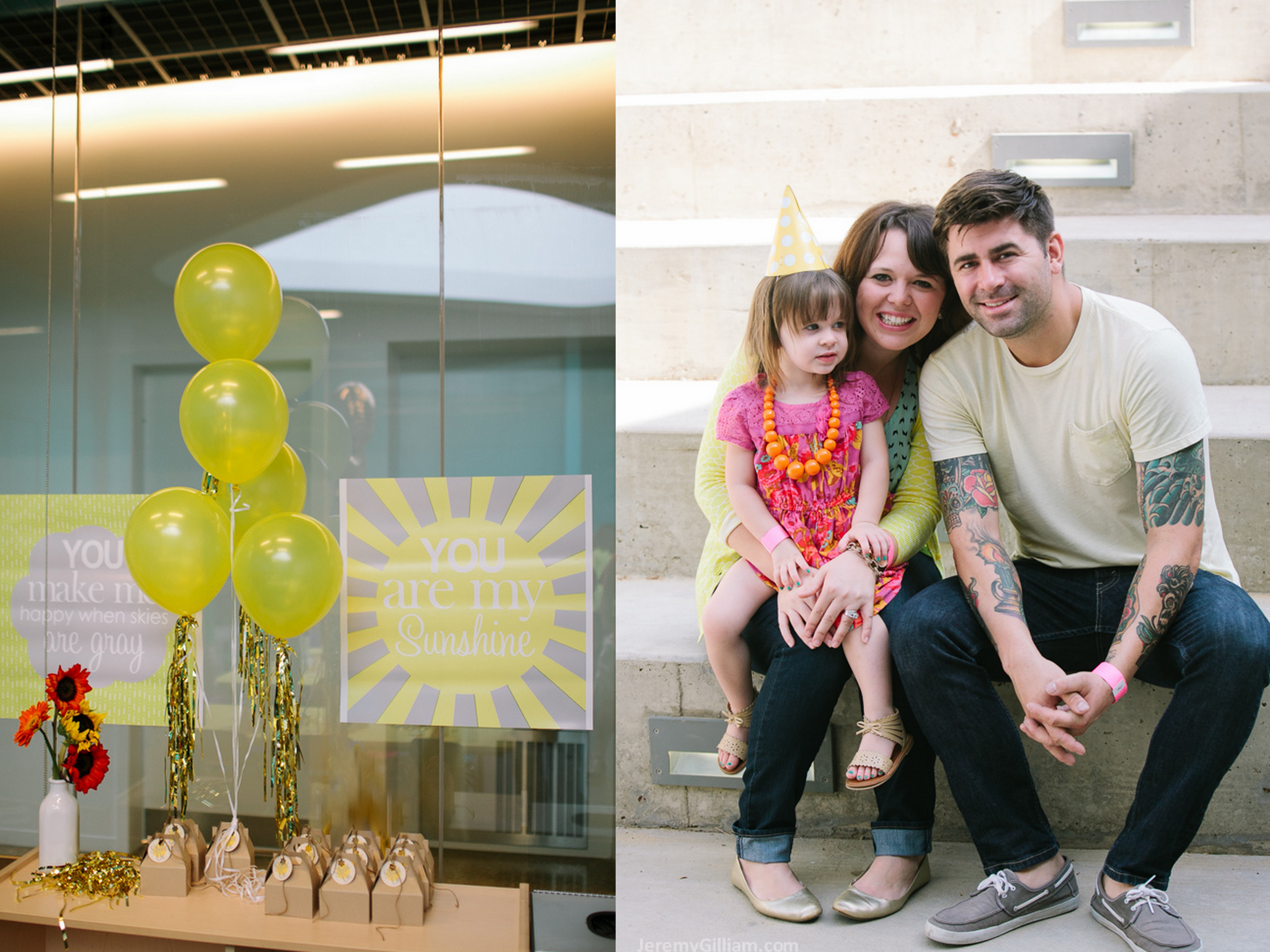 Saylor Rue Turns 3 Perot Museum Grit Gold Event Design