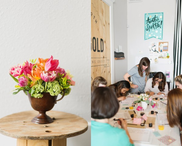 calligraphy-class-workshop-creative-fort-worth-studio-design-grit-and-gold-design-roots