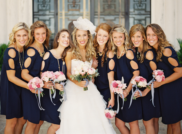 Southern-wedding-navy-bridesmaid-dresses