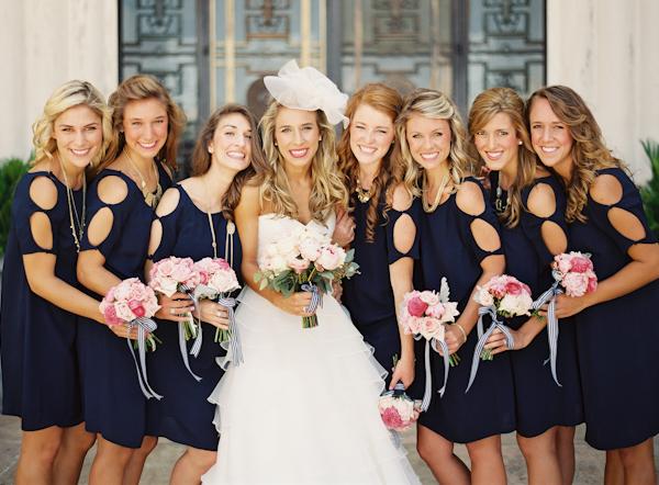 Southern-wedding-navy-bridesmaid-dresses