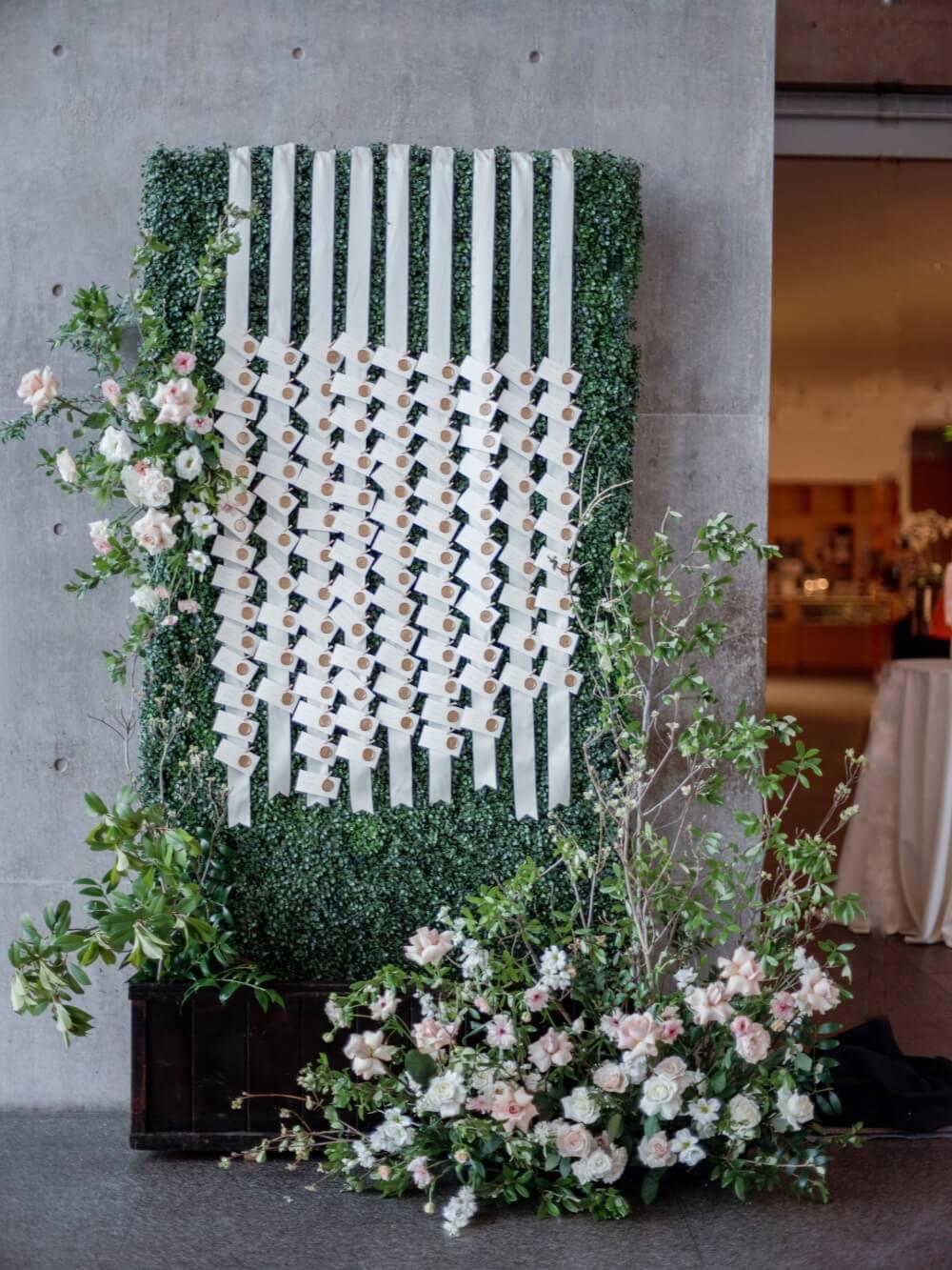 garden inspired escort wall